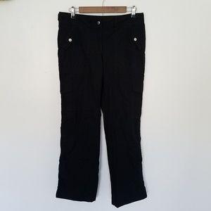 Michael Kors Black Cargo Pockets Outdoor Pants